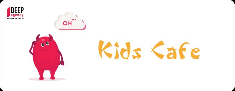 graphic designer's signs kids cafe