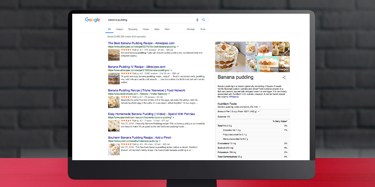 Rich featured snippets in 2020