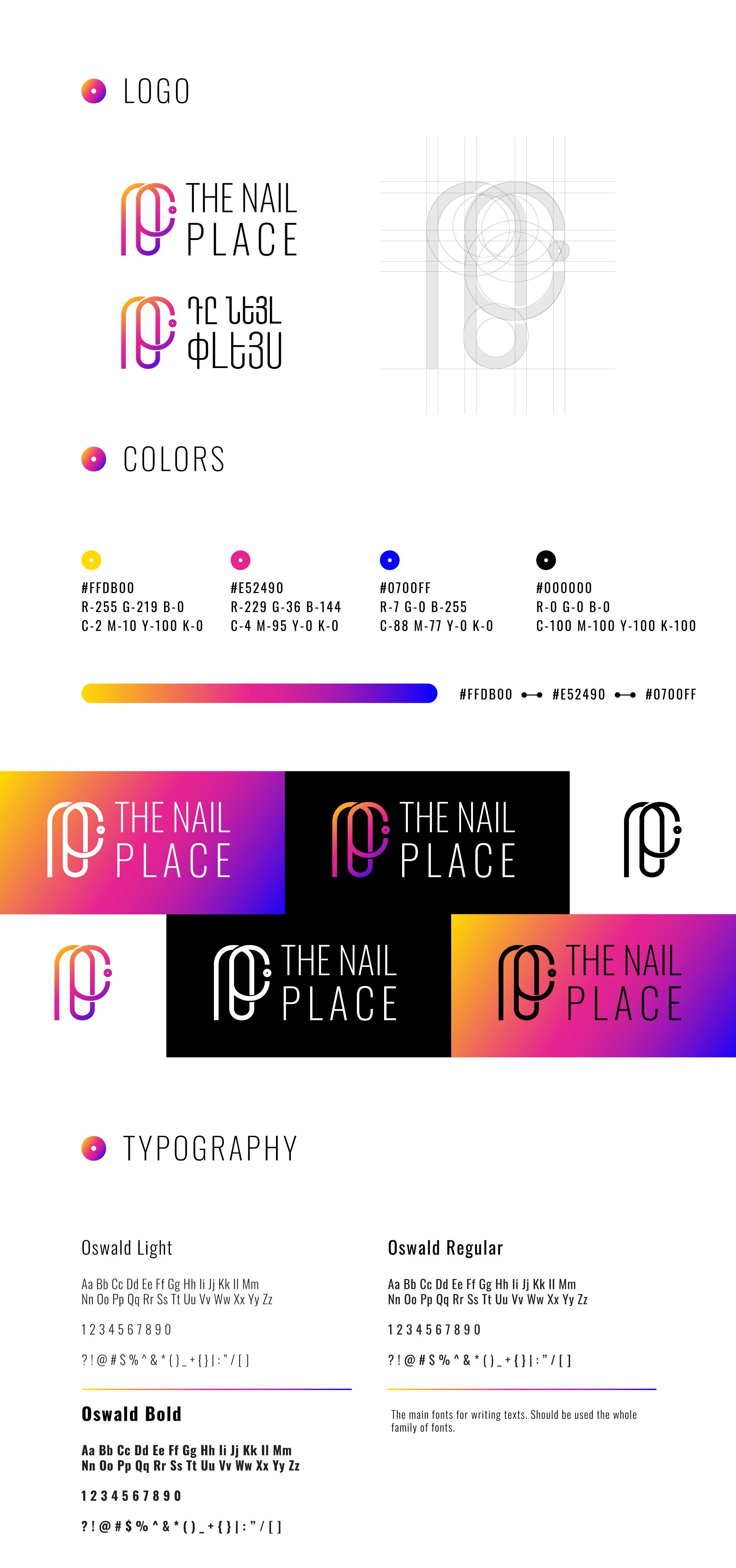 the nail place portfolio branding