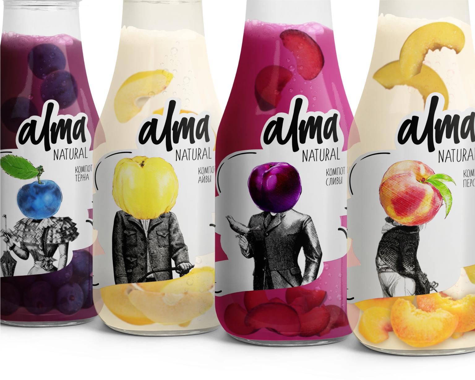 alma natural branding
