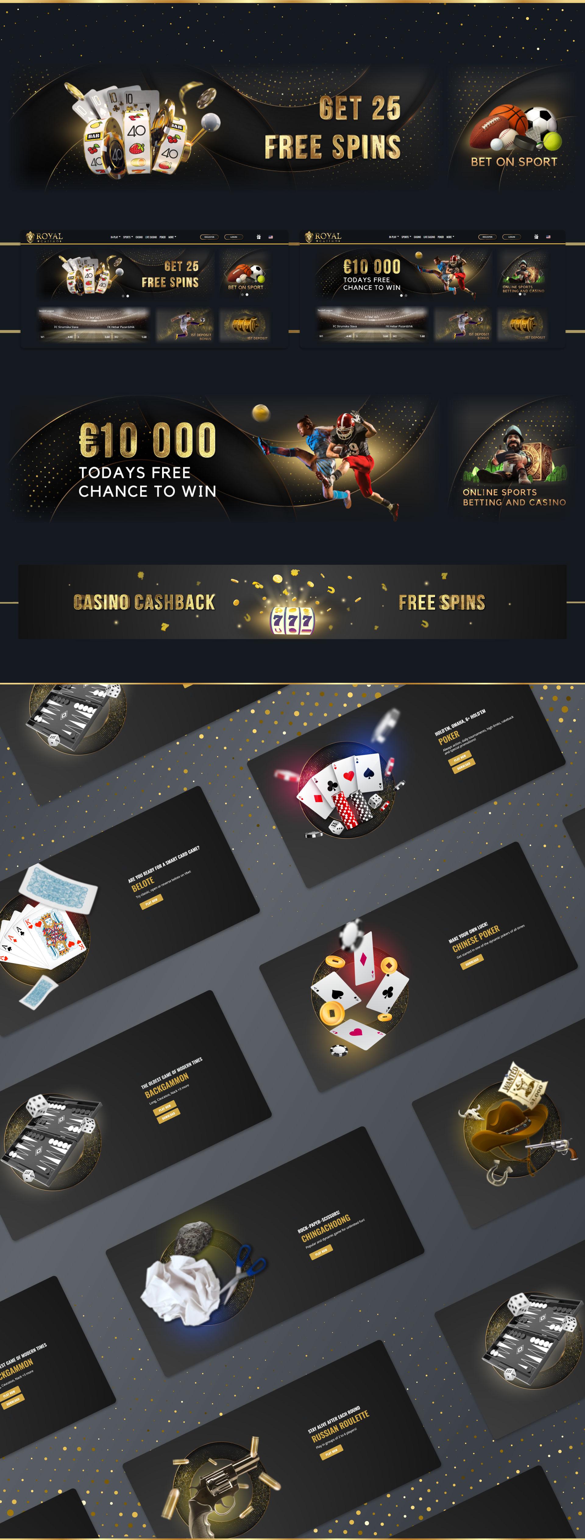 royal casino banner portfolio