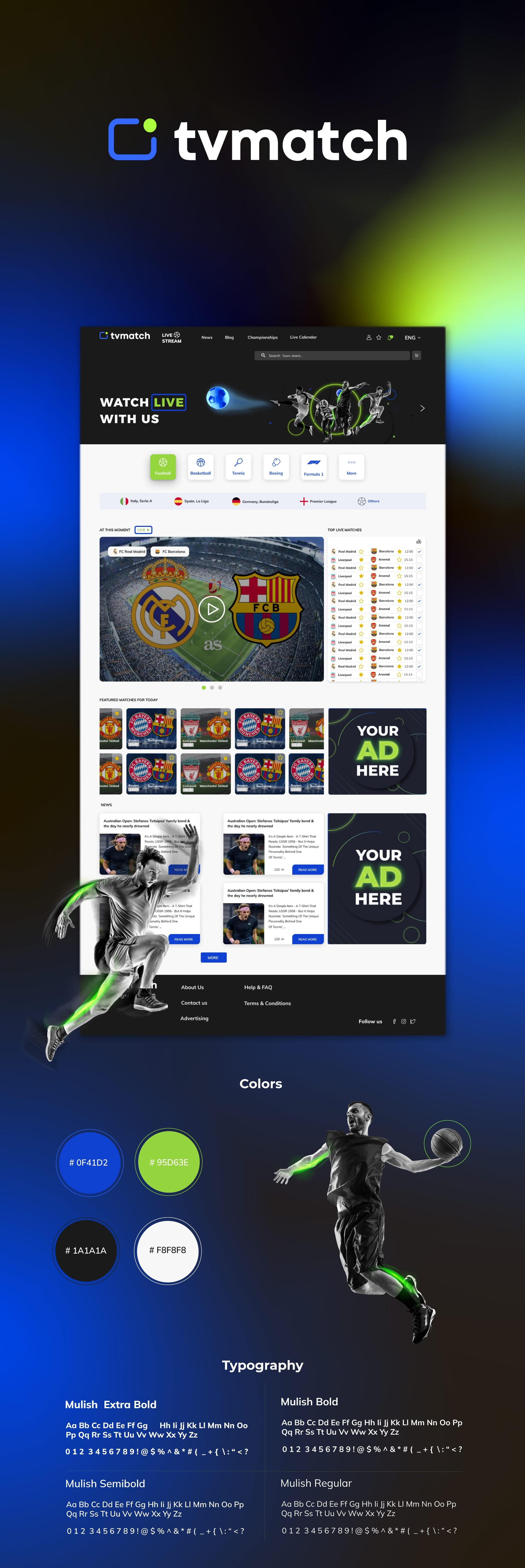 tv match ui ux design website design portfolio